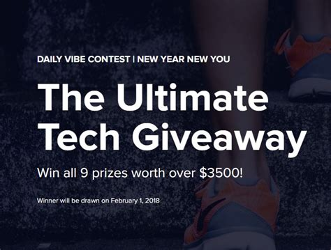 Ultimate Prizes techvibes ultimate tech giveaway win 9 prizes worth