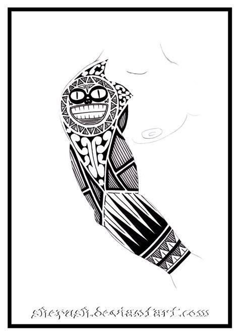 half sleeve tribal tattoos drawings sleeve 7 by shepush on deviantart