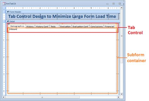 enable layout view access vba ms access tab control with multiple subforms access jitsu