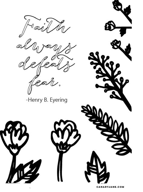 general conference coloring pages faith always defeats fear coloring canary
