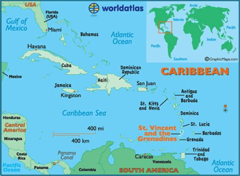 st vincent grenadines map st vincent and the grenadines map geography of st