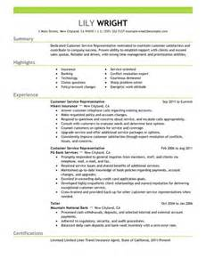 sle of customer service resume simple customer service representative resume exle
