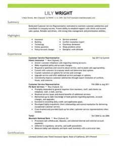 Simple Customer Service Representative Resume Example