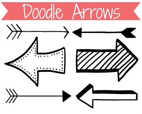 arrow doodle free vector arrow clipart free clipartsgram