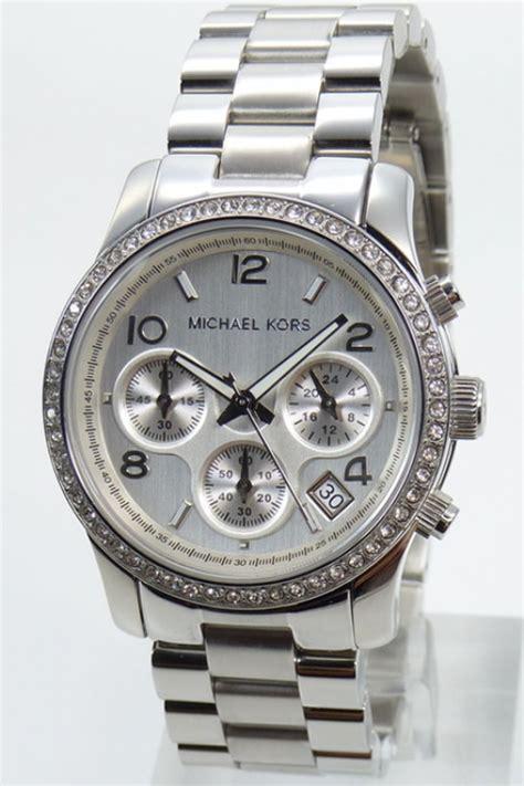 Michael Kors Uhren Silber Damen 209 by Michael Kors Damenuhr Silber 187 Preissuchmaschine De