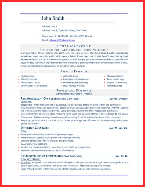 word document sle resume format