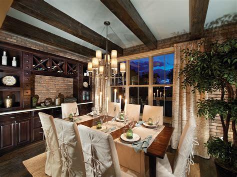 superb Rustic Chic Interior Design #1: Rustic-Yet-Elegant-Dining-Room-With-Brick-wall-decor.jpg