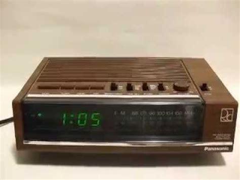 national panasonic rc  fm  mw alarm clock radio