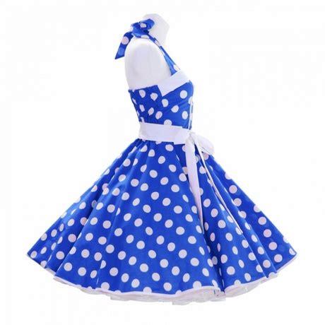 swing kleid mit punkten kleid blau mit punkten