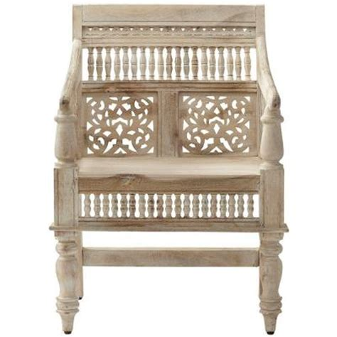 home decorators collection maharaja sandblasted white wood home decorators collection maharaja hand carved chair in