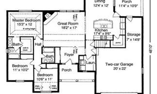 Home Plans With Open Floor Plans ranch style house plans with open floor plans house plans 63185