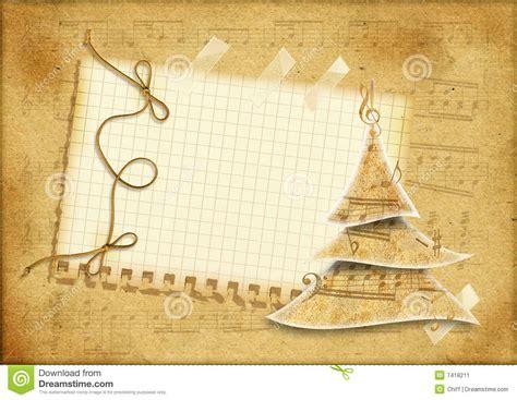 imagenes navidad musical tarjeta del musical de la navidad de la vendimia stock de