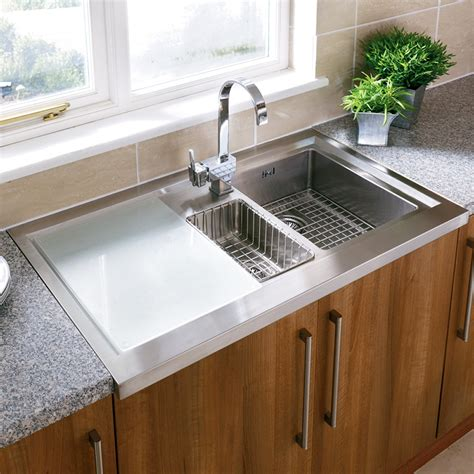 Kitchen Counter With Sink Simple Undermount Stainless Steel Kitchen Sink Constructed For Practical Dish Washing