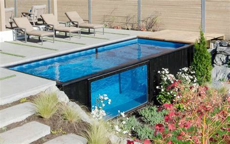haus aus container pool mit containern gebautcontainer haus container haus