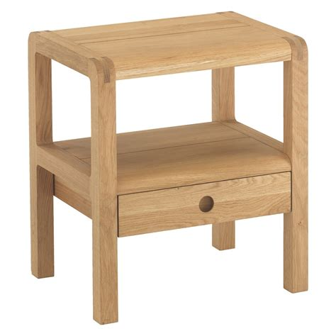 habitat radius bench radius oak 1 drawer bedside table buy now at habitat uk
