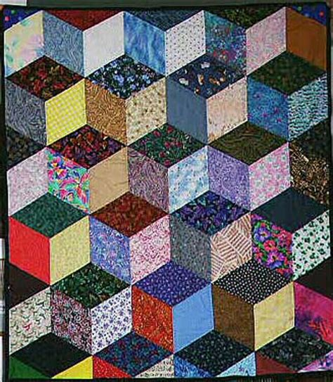 Free Tumbling Blocks Quilt Pattern by Baby Block Pattern Quilt Tumbling Free Patterns