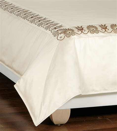 Ivory Duvet Cover Luxury Bedding By Eastern Accents Anthemion Ivory Brown