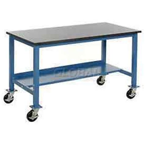 lab work benches laboratory work bench mobile heavy duty mobile lab bench blue globalindustrial com