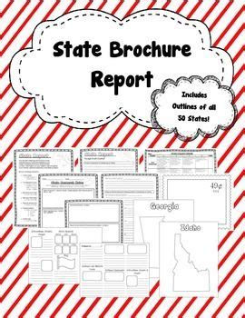 State Report Brochure Template brochure state research report brochure template 50