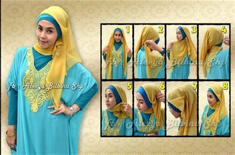 tutorial hijab pesta jilbab paris the gallery for gt tutorial hijab segi empat untuk kuliah