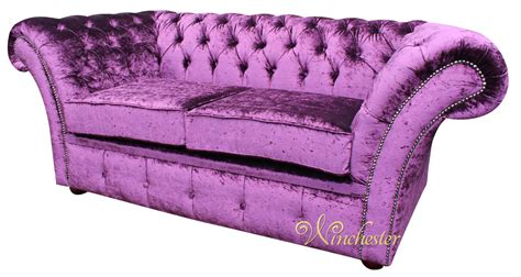 Chesterfield Balmoral Purple 2 Seater Sofa Settee Boutique Purple Velvet Chesterfield Sofa