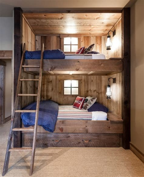 how to build bunk beds rustic cabin bunk bed bedroom rustic with built in bunk