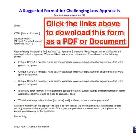 Low Appraisal Letter how to challenge a low appraisal advice from a real