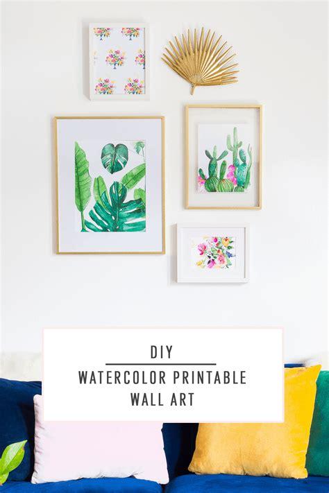 diy watercolor printable wall art sugar cloth diy