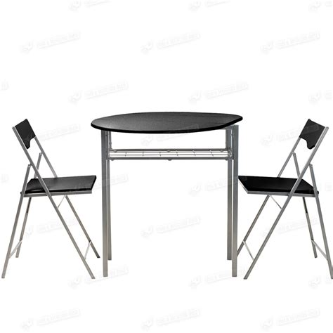 Drop Leaf Table And Folding Chairs Drop Leaf Dining Table And 2 Folding Chairs Breakfast Set Black Wooden Furniture Ebay