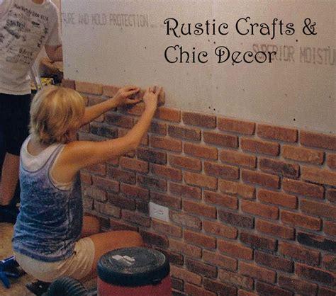 interior brick wall easy way to install a rustic brick veneer wall rustic