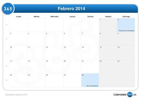 Calendario De Febrero Calendario Febrero 2014