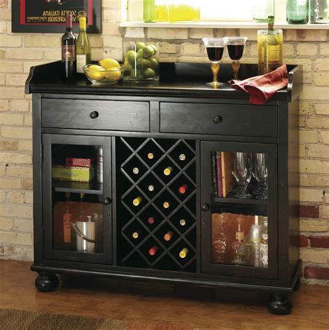 furniture brown wooden built in cabinet with wine storage wine rack storage rectangle shape wooden bars table brown