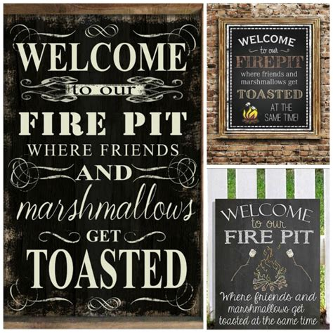 firepit signs free printable welcome to our csite sign plus 4 more