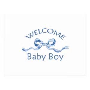 welcome baby boy postcards zazzle