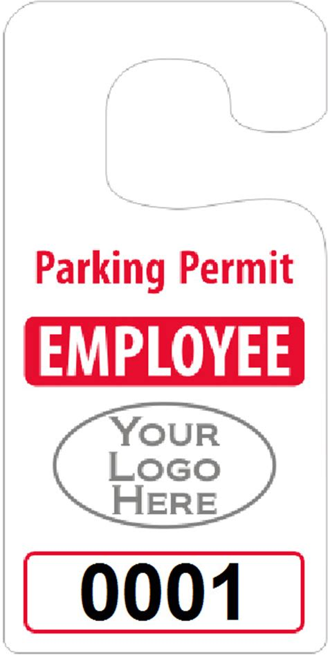 parking permit templates big foot parking permits jumbo size hang tags