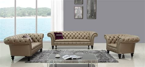 d6036 transitional bronze shiny italian leather sofa set
