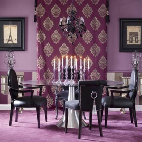 furniture contemporary dining room design ideas showcasing rectangle white purple dining room