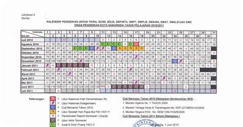 smk ti airlangga samarinda kalender pendidikan kota