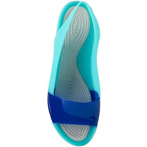 Crocs Colorblock Flat sanda蛯y crocs colorblock flat w 200032 cerulean blue