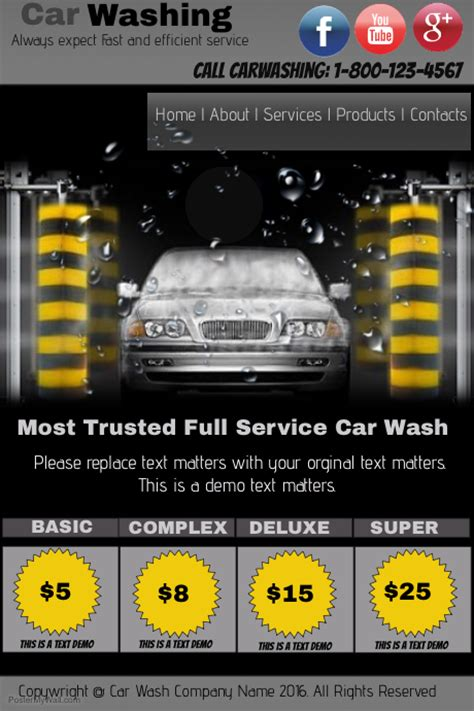 Car Wash Template Postermywall Car Wash Poster Template