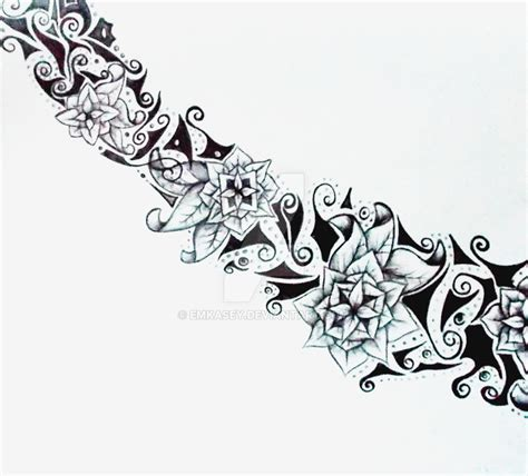 flower chain tattoo designs flower chain design by emkasey on deviantart