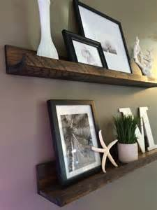 shelf rustic wooden picture ledge shelf gallery wall by