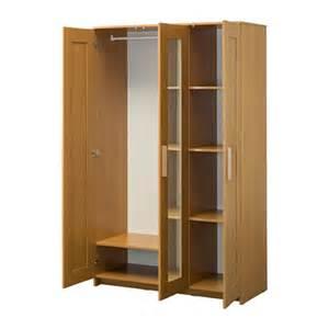 brimnes wardrobe with 3 doors oak effect 117x190 cm ikea