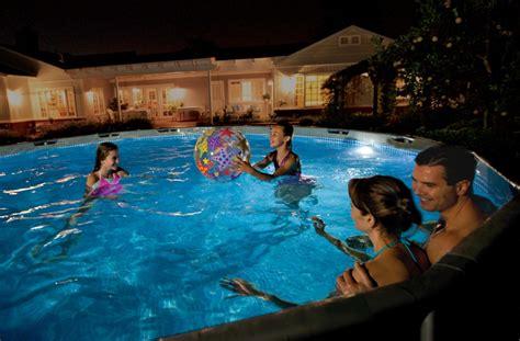 pool beleuchtung neuheit intex magnet led pool beleuchtung 56688