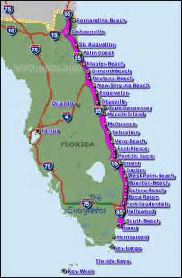 Florida Map East Coast by Interstate 95 East Coast Florida Amp I 95