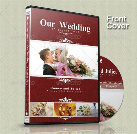 15 beautiful wedding cd dvd cover templates design freebies