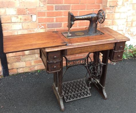 vintage antique singer sewing machine table spares