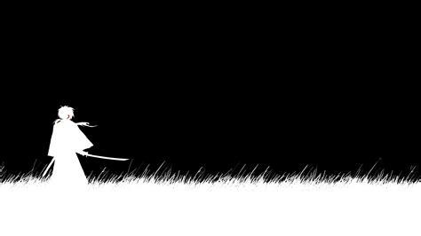 wallpaper black and white anime black and white samurai x anime wallpaper pict 4339