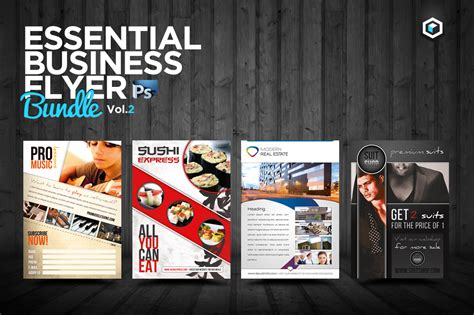 Rw Essential Business Flyers Vol 2 Flyer Templates On Creative Market Ii Flyer Template