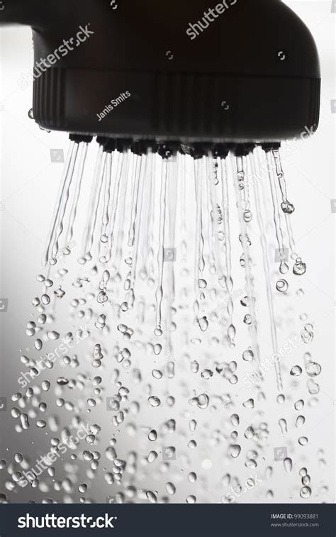 Falling Shower by Shower Falling Water Drops Stock Photo 99093881
